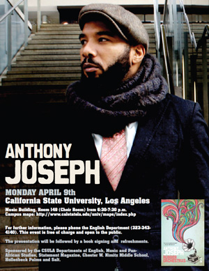 flyer for Anthony Joseph