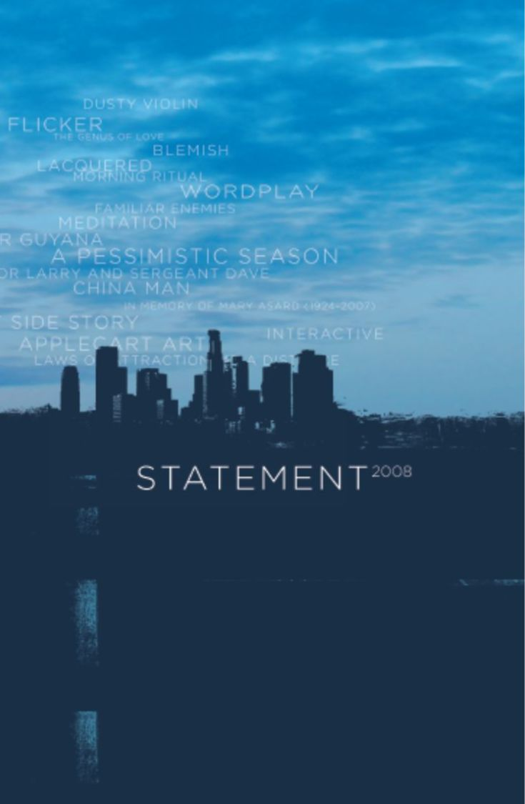 Photo of Skyline for Cover of Statement 2008