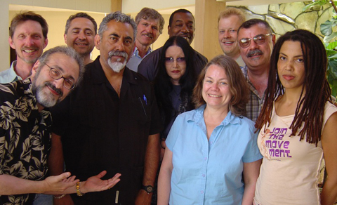 The Television, Film & Media Studies Faculty on retreat, May 14th, 2005.<br />