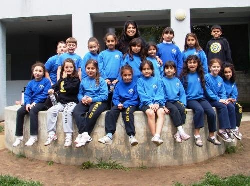 Tania Tchakerian (Class of 2007) with her 2nd grade class.