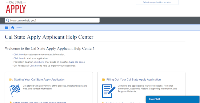 Cal State Apply Applicant Help Center