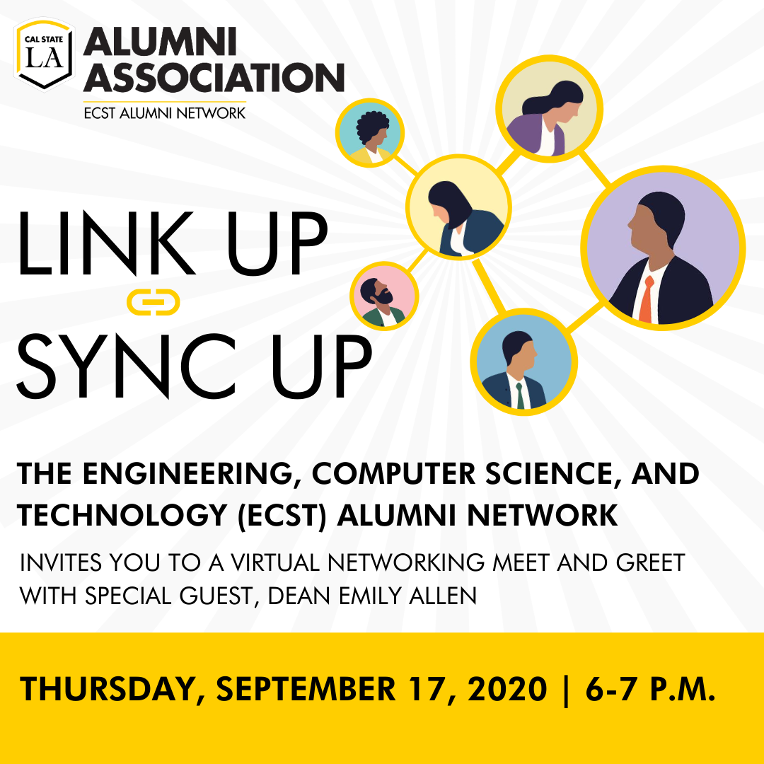 ECST Alumni Network - Link up sync up on Thursday, September 17 2020 at 6 PM