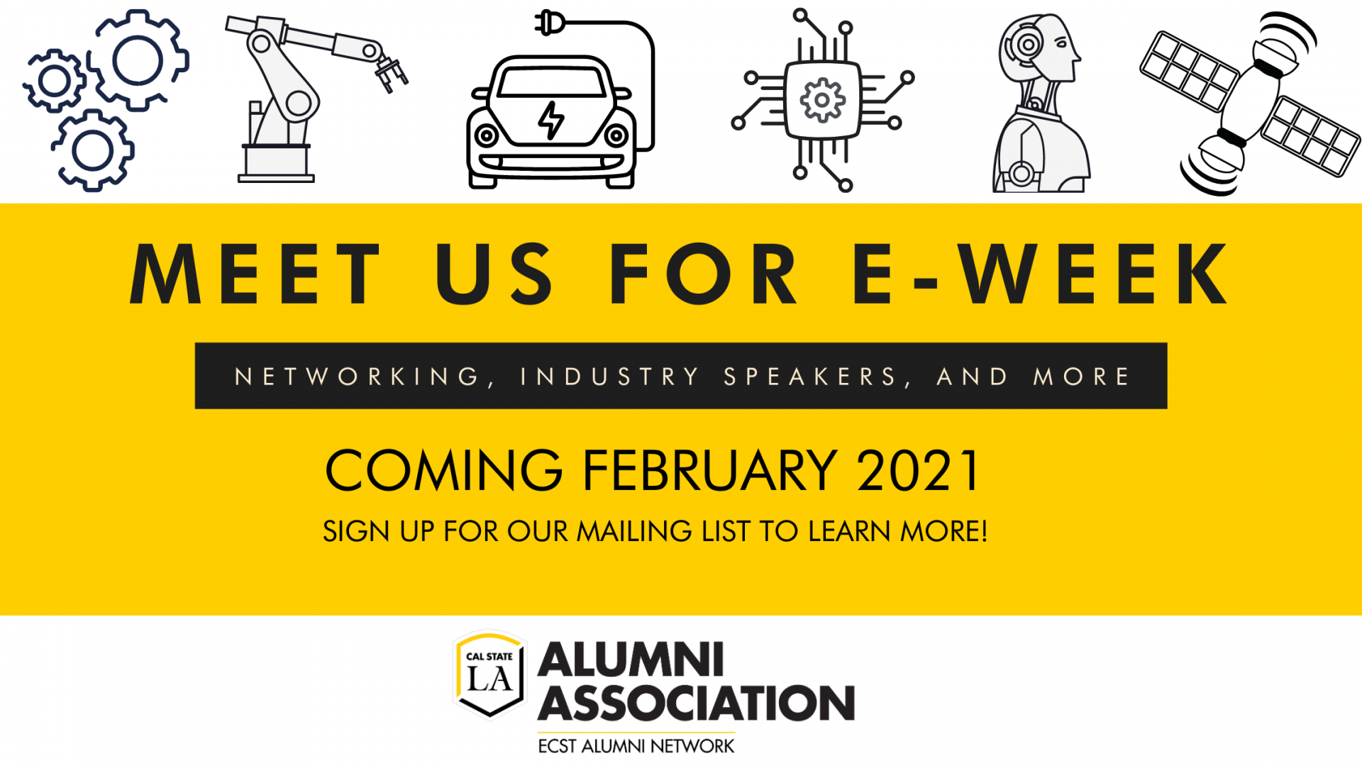 E-Week 2021 Banner - More information coming soon