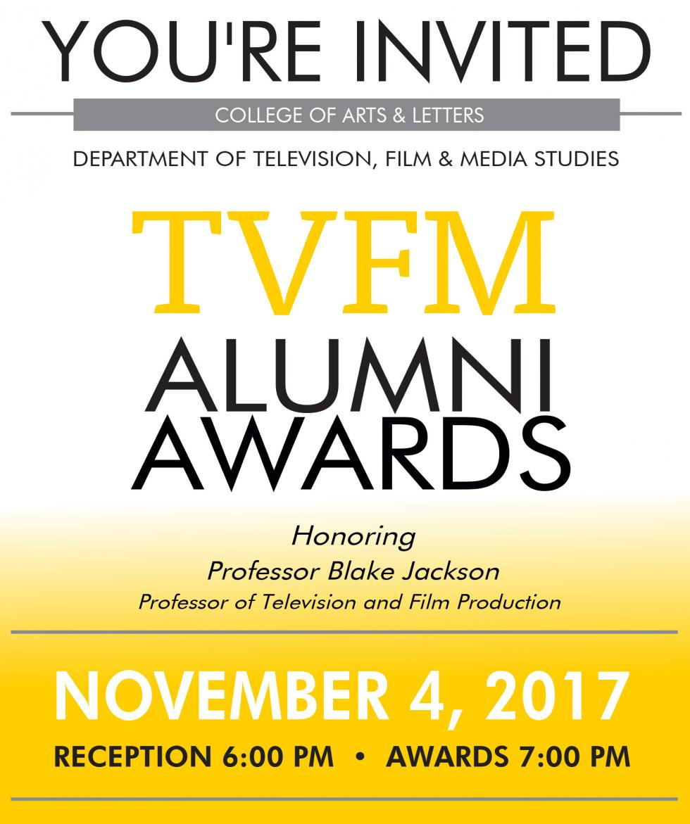 Invitation to the 2017 TVFM Alumni Awards