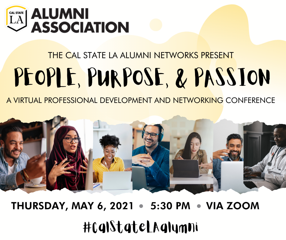 Alumni Networks Conference 2021: People, Purpose, & Passion - Save the Date - 5/6/21