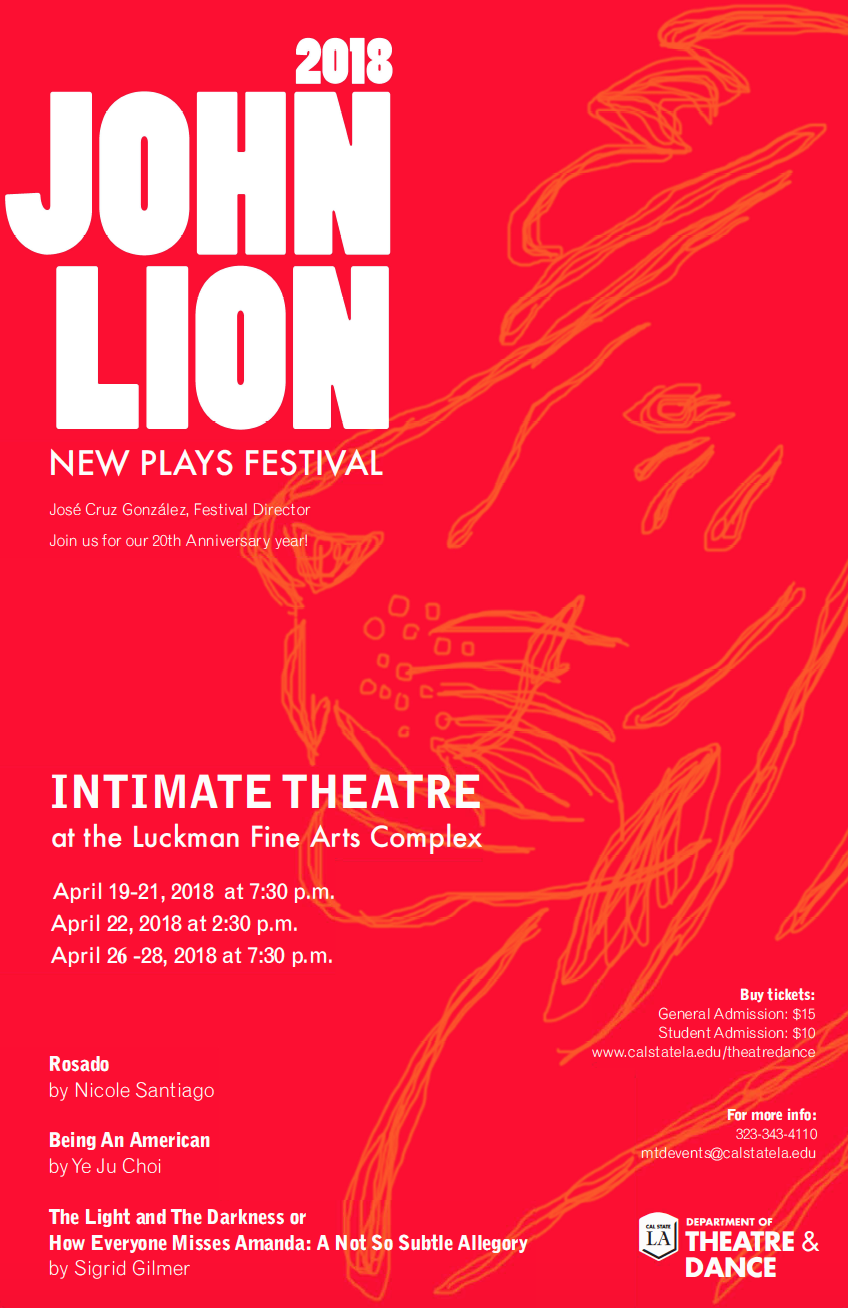 2018 John Lion New Plays Festival Flyer
