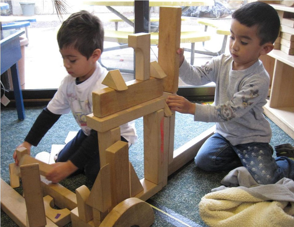 Picture of children playing with blocks