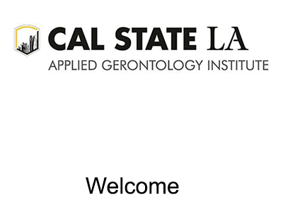 Link to Applied Gerontology Institute Welcome Web page