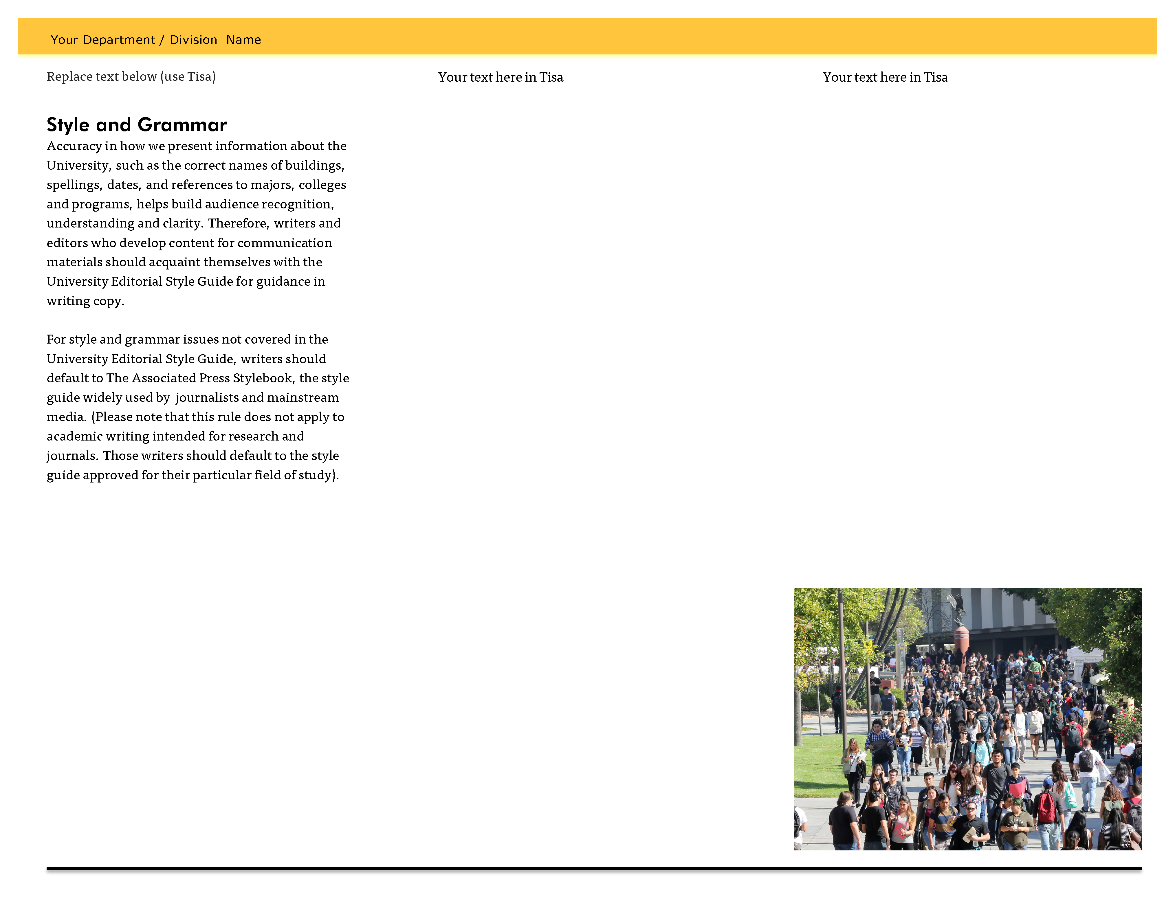 New Brand Templates California State University Los Angeles - State brochure template