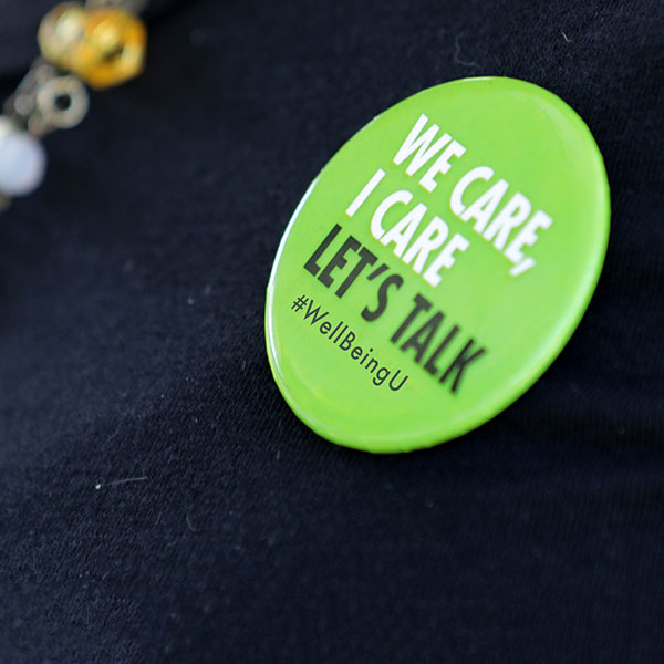 Green We Care, I Care Let's Talk button