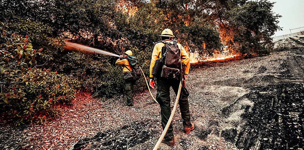 Cal State LA student fire fighters