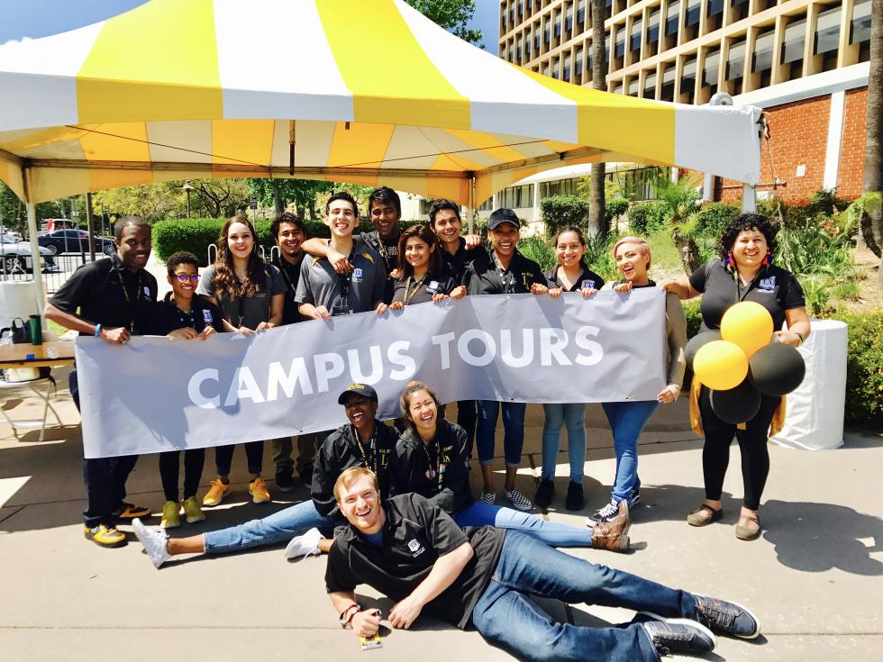 Campus Tours department staff at Preview Day 2017