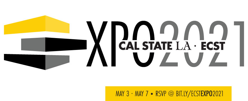 alternating yellow and gray blocks cal state la ecst expo 2021
