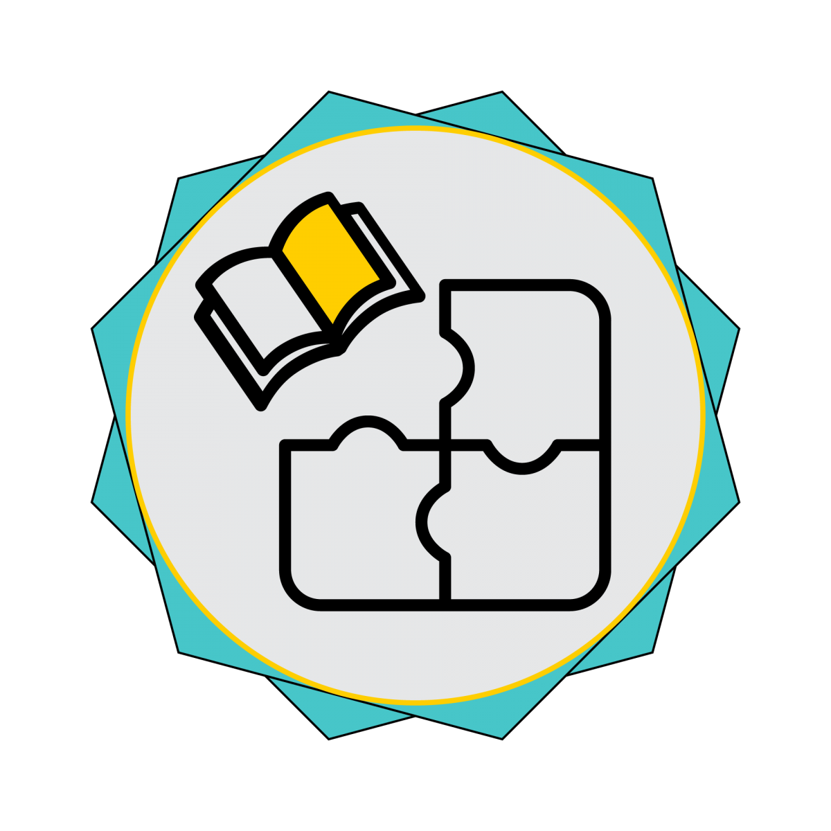 Active Learning Online: Reading Apprenticeship Badge a puzzle with a book as a piece