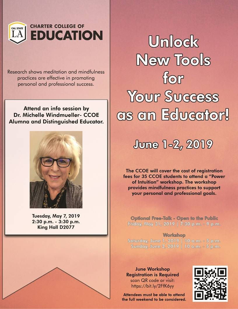 Info session by Dr. Michelle Windmueller-CCOE Alumna and Distinguished Educator
