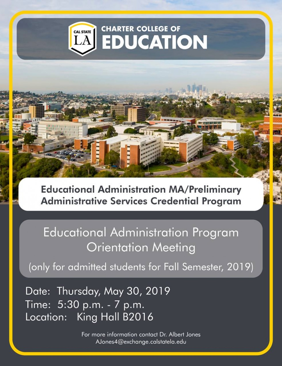 Educational Administration Orientation Meeting