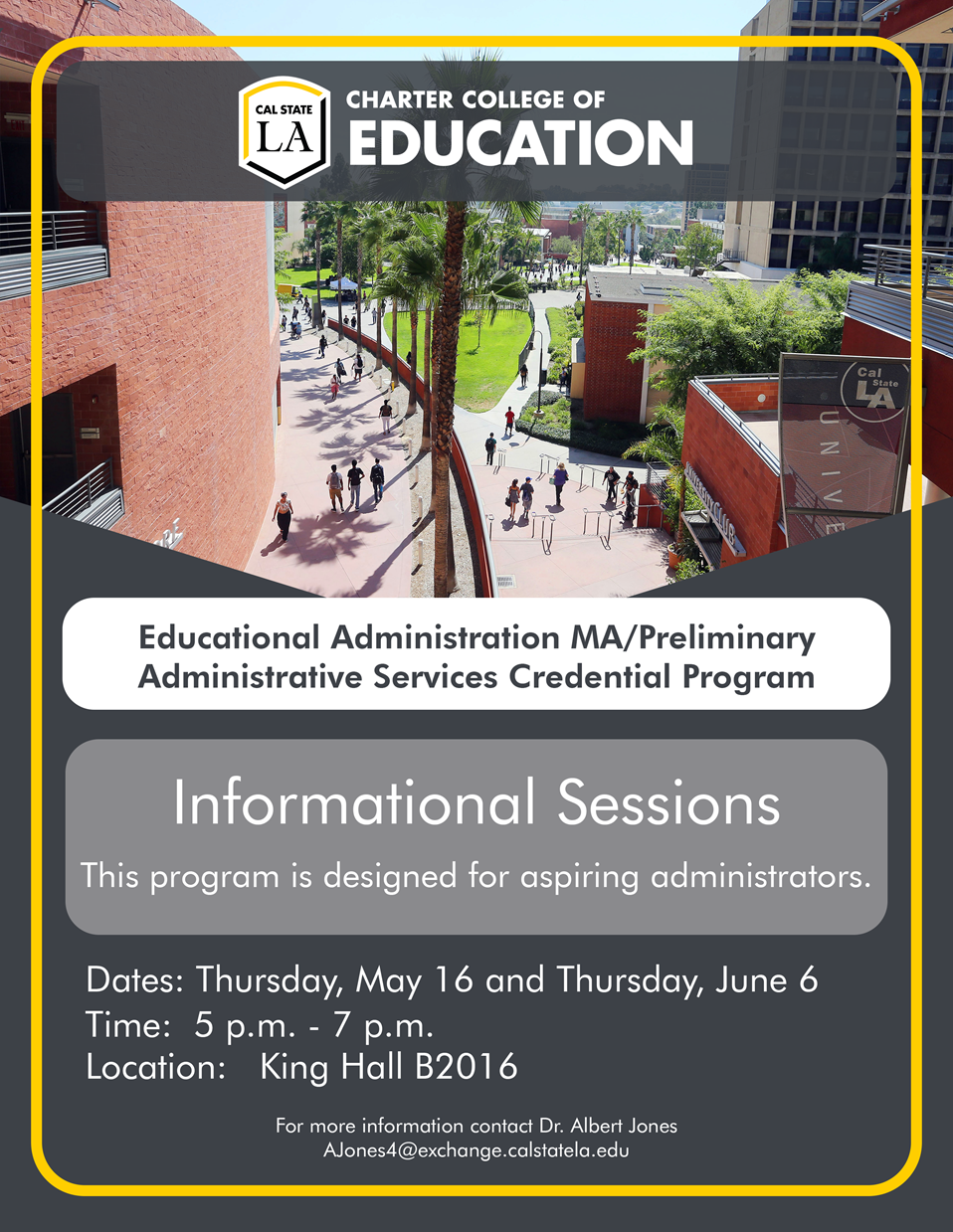 Educational Administration Information Sessions