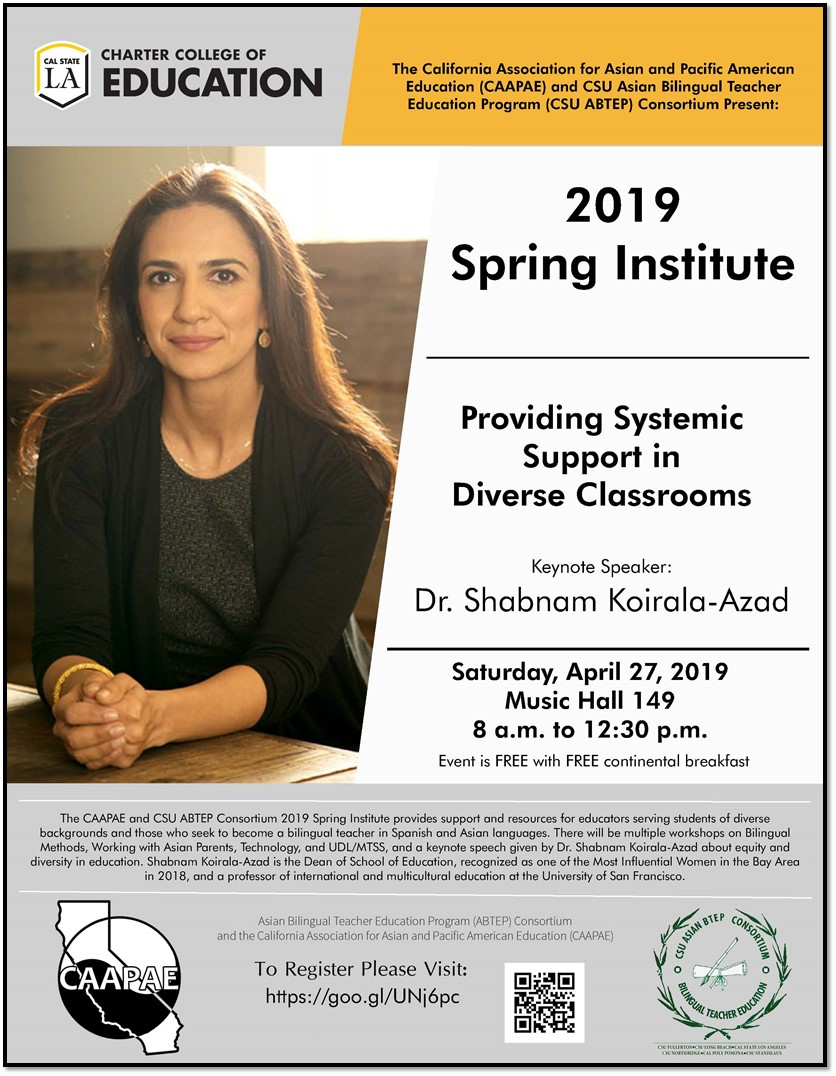 System support in Diverse Classrooms-Keynote speaker- Dr. Shabnam Koirala-Azad