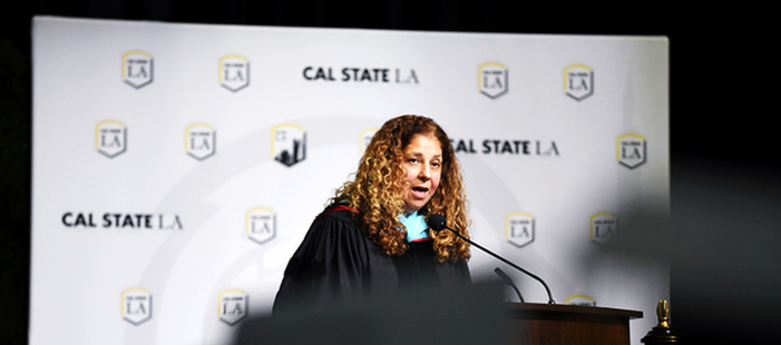 Photo of Ana Ponce during the 2018 Commencement