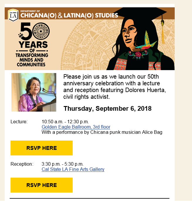 Picture of 50 years of Chicano study poster