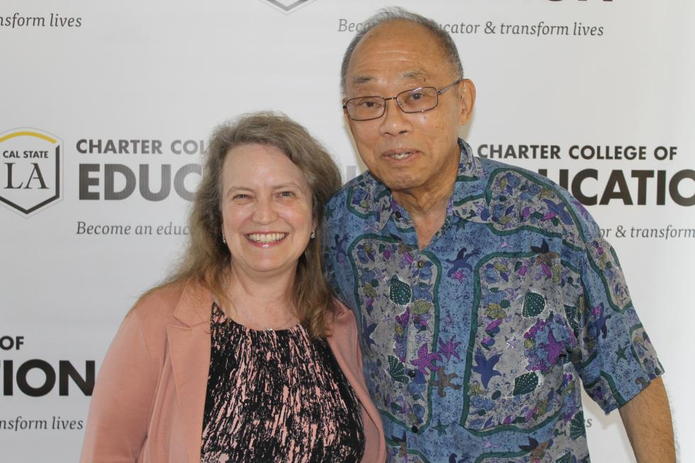 2017 Cane Quest Event & 50th Anniversary Celebration – Diane Fazzi with former CCOE, Chair of the Division of Special Education – Phillip C. Chinn. Dr. Chinn was Division Chair at the time of Dr. Fazzi's hiring in 1992 and a strong supporter of the O&M Program.
