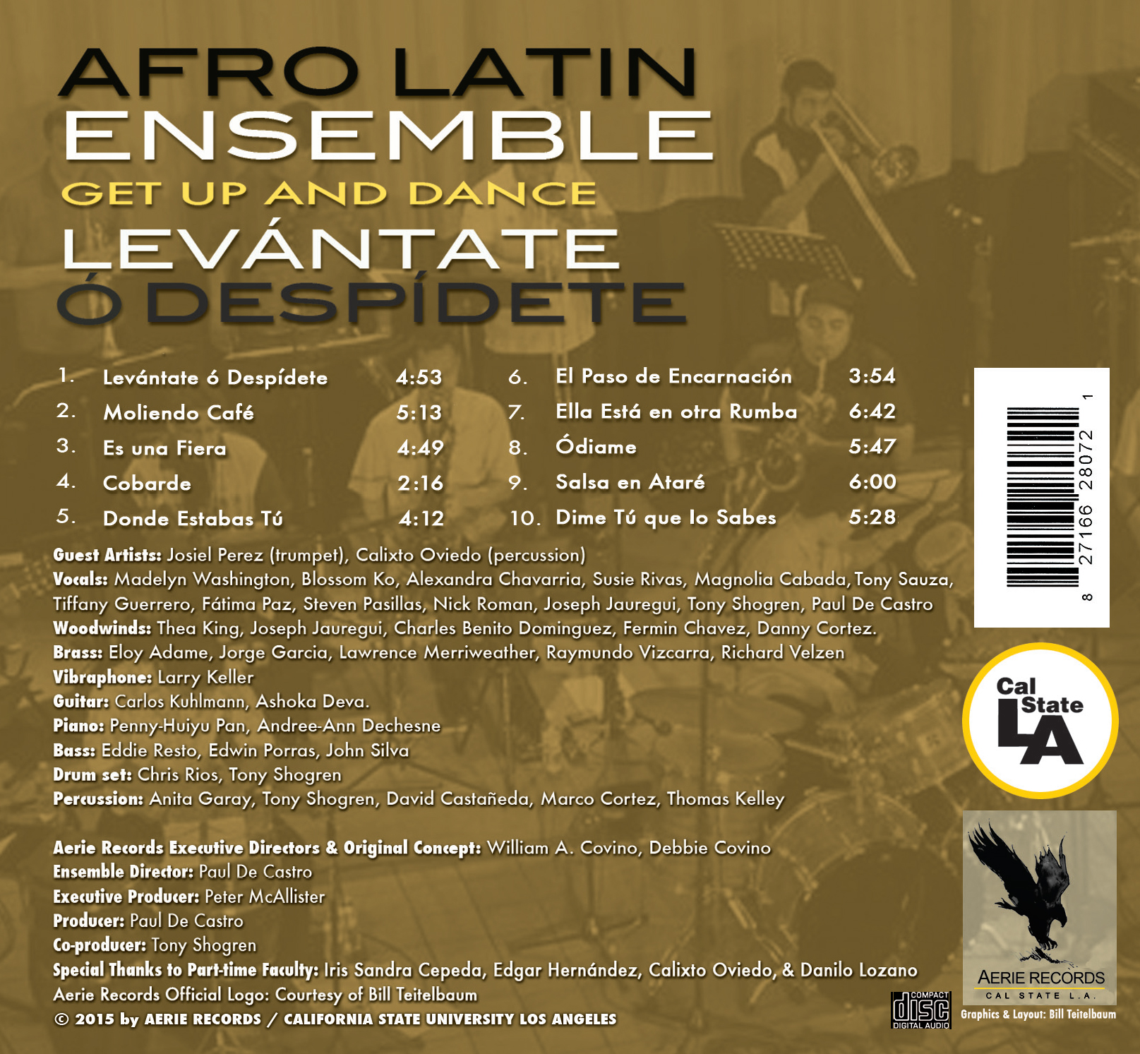 Afro Latin Ensemble Back Cover