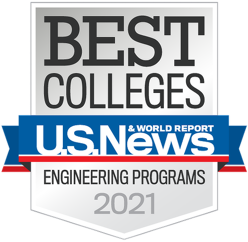 US News 2021 Best Engineering Programs Badge