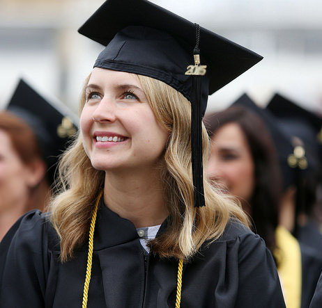 photo of graduating student