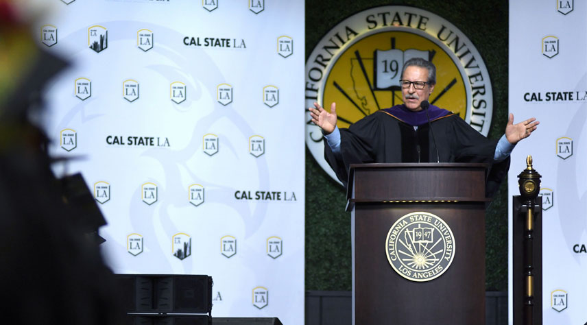 Community health leader, Cástulo de la Rocha, urges Cal State LA graduates to be lifelong learners