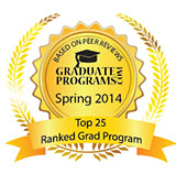 Top 25 ranked grad programs Spring 2014