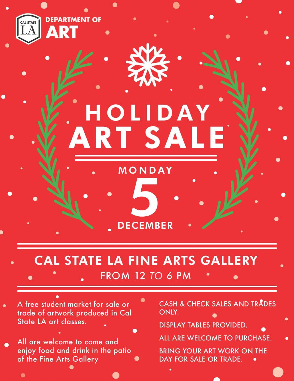 2016 Student Holiday Art Sale