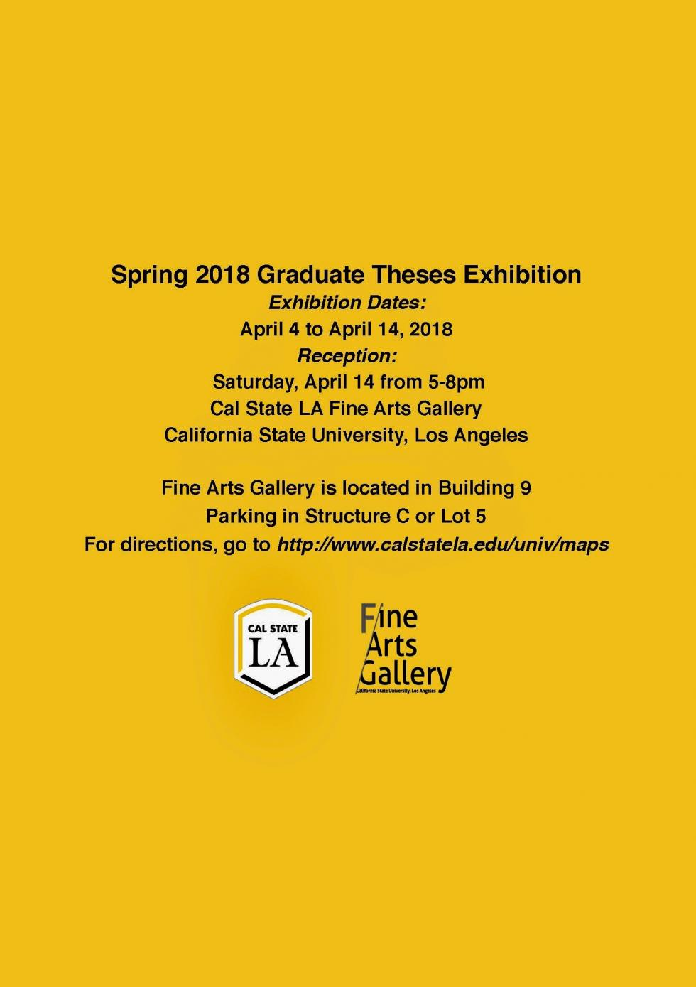 Spring Graduate Theses Exhibition 1