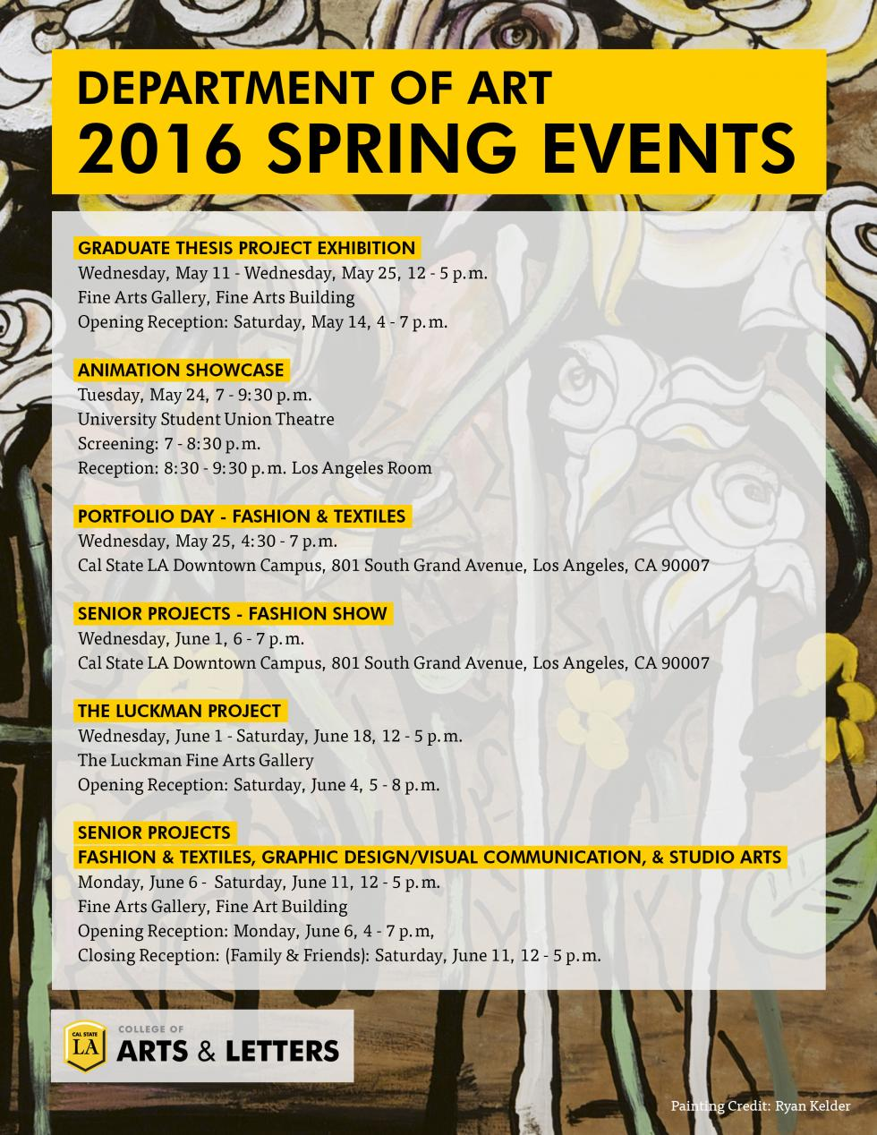 Spring Art Events