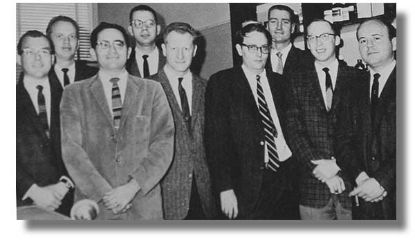 Group photo of Chem & Biochem faculty in 1961