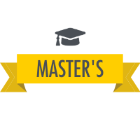 Master's Degree with Graduation Cap Icon