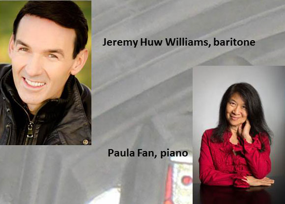Announcement Flyer with photos of Jeremy Huw Williams & Paula Fan