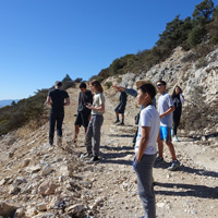 Students Hiking in Tejon Ranch
