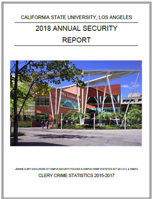 2018 Annual Security Report Cover Page