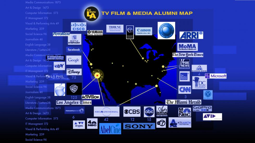 TV Film & Media ALUMNI MAP