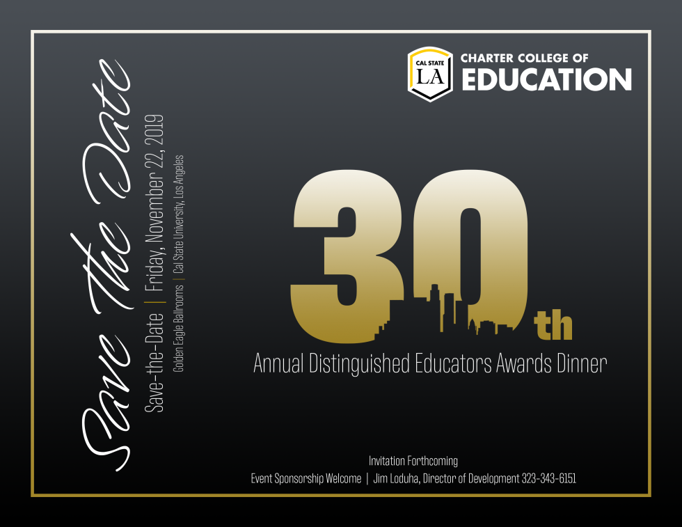 Distinguished Educators Award Dinner 2019
