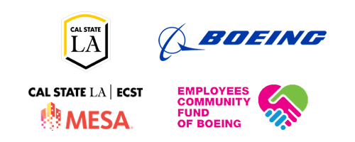 Sponsor logos: Boeing, Cal State LA ECST MESA, Employee Community Fund of Boeing