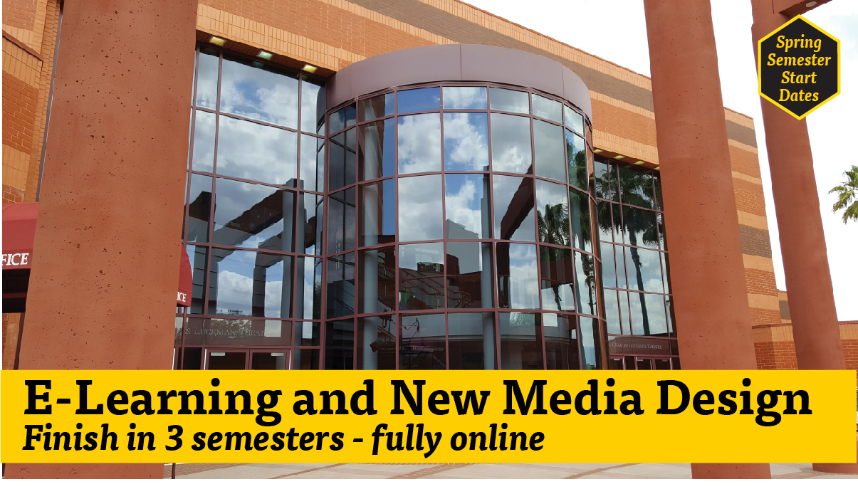 E-Learning and New Meida Design MA Track 2 finish in 3 semesters completely online