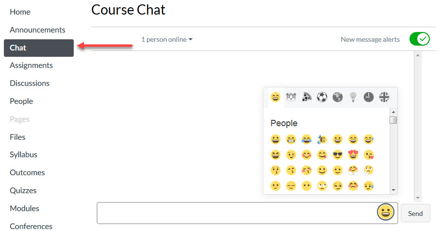 chat in Canvas