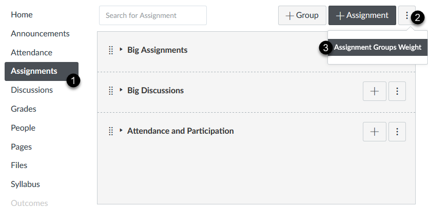 Assigning group grade weights in Canvas