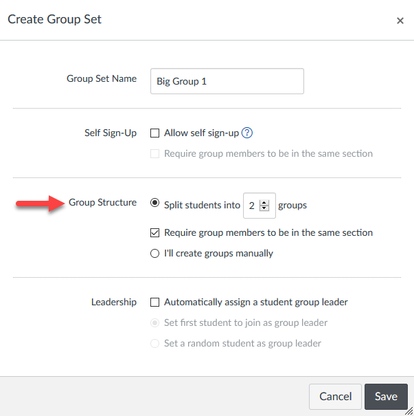 Assigning students automatically to a group