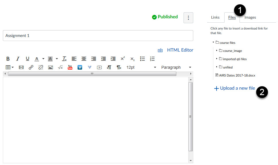 file upload through rich content editor