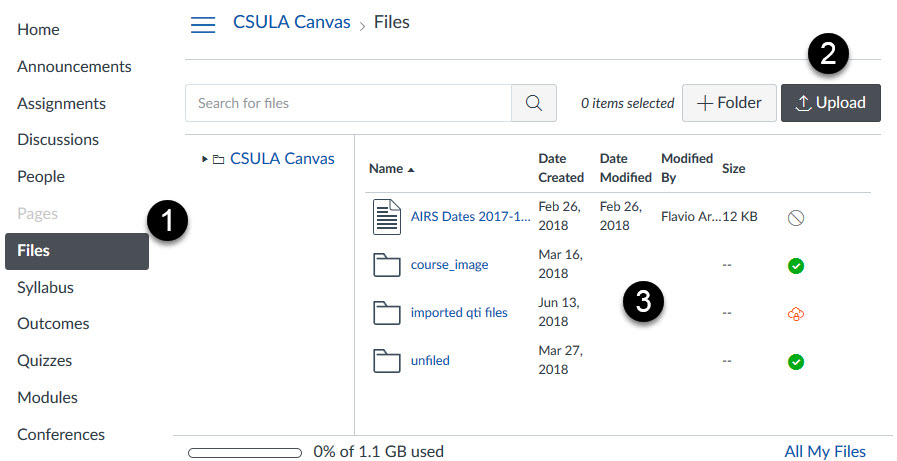canvas file upload screen