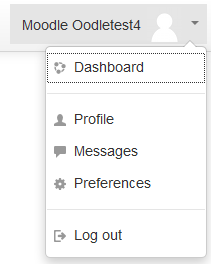 Moodle 3.0 User Menu