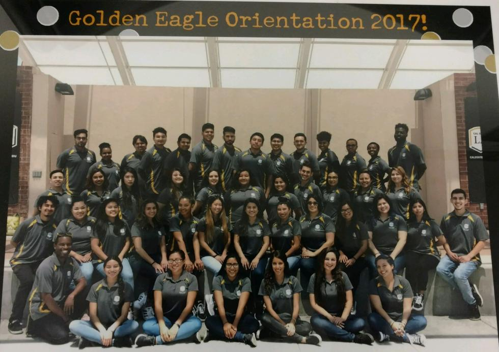 Group photo of 2017 Orientation Leader student team