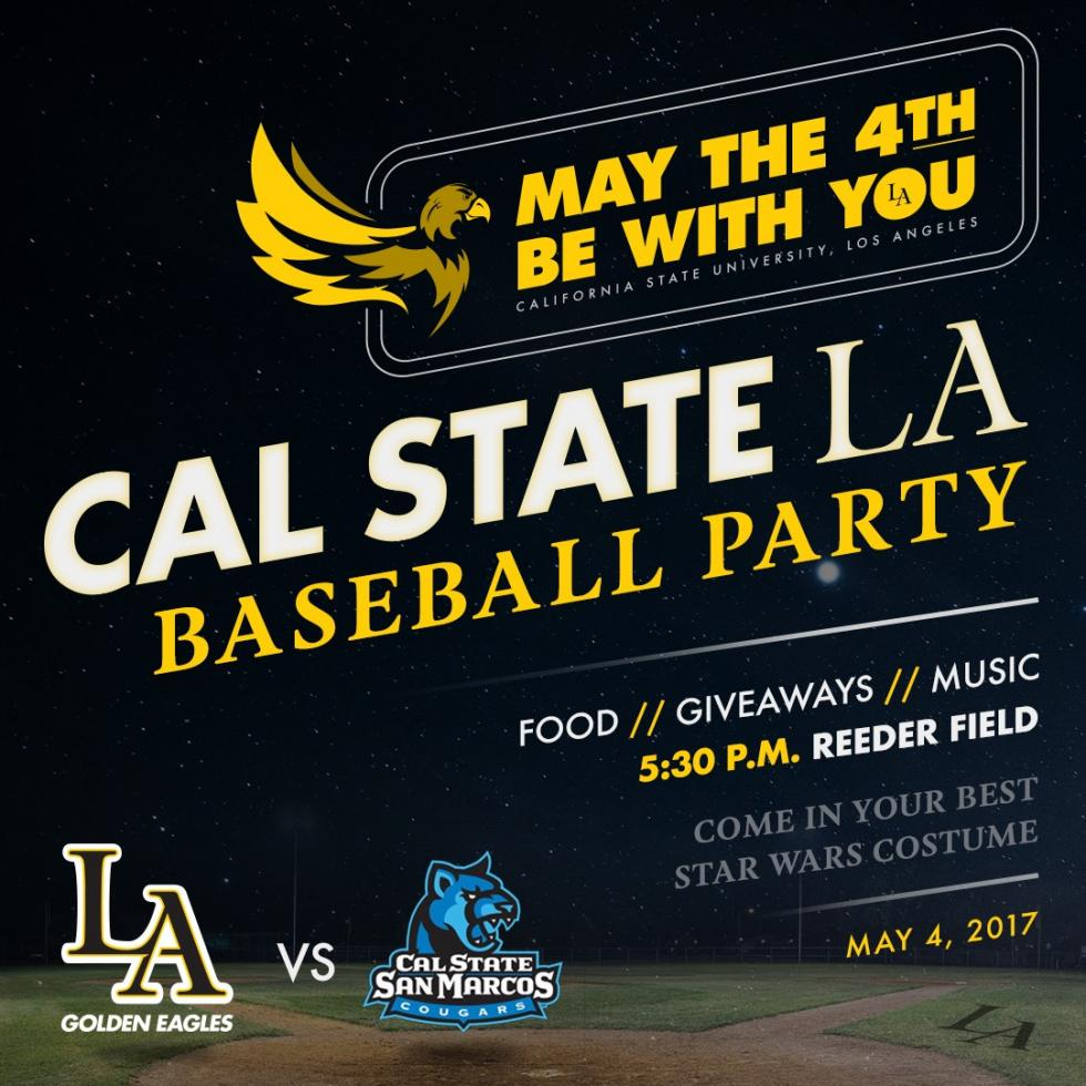 Baseball Game: May The 4th Be With You Party